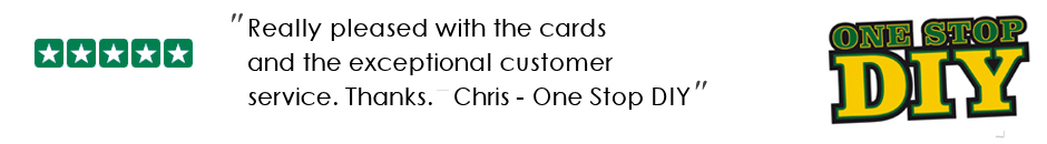 testimonial for custom id card printing from one stop DIY in Northampton